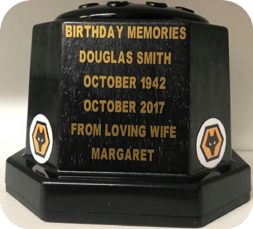 Wolverhampton Wanders  F. C. football personalised grave pot